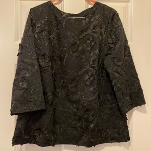 Talbots Tops - NWT Talbots Cotton Embroidered Floral Top in Navy